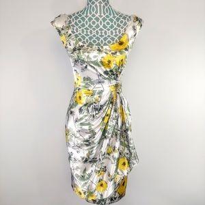 Maggy london floral wrap dress